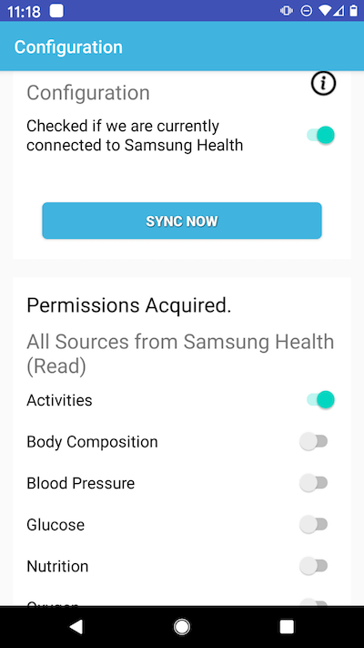 FitnessSyncer for Android