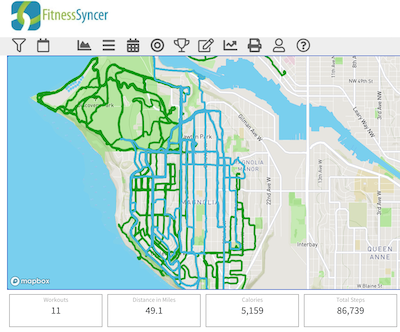 FitnessSyncer Maps: See where you've been!